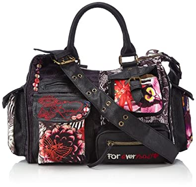 Desigual Bols Jungle Night London, Sac bandoulière - Noir (2000), Taille Unique