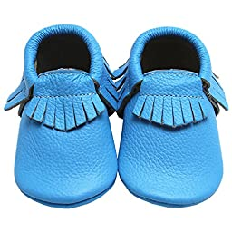 Mejale Baby Soft Soled Moccasin Tassel Infant Toddler First Walker Shoes