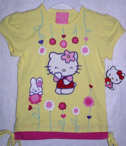 Hello Kitty Girls Top, Size 5  Yellow