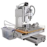 RioRand HY-3040 CNC Router Column 4 Axis L-Type Engraver Engraving Machine Precision Ball Screw 800W Spindle Motor