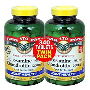Spring Valley - Glucosamine Chondroitin, Triple Strength, 340 Tablets, Twin Pack