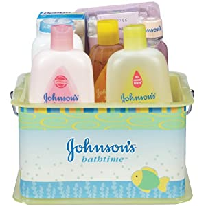 Johnson & Johnson Baby 7-Piece Bathtime Gift Set