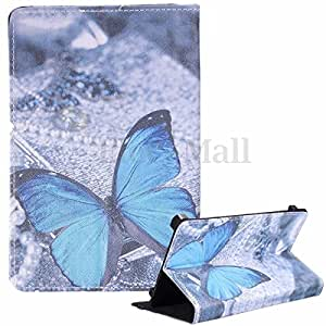 Universal Patterned Leather Folding Folio Stand Case Cover ( For other 7'' Inch Tablet) (Butterfly)