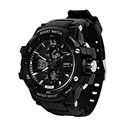 Skmei Analog-Digital Black Dial Mens Watch - 990BLK