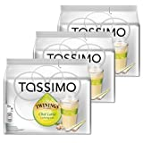 Tassimo Twinings Chai Latte Lemongrass, 16 T-Discs, 8 Servings (Pack of 3, Total 48 T-Discs)