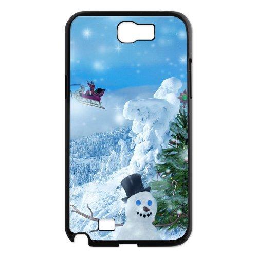 Samsung Galaxy Note 2 N7100 Christmas Phone Back Case Customized Art Print Design Hard Shell Protection Aq038673