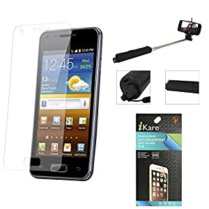 iKare Pack of 10 Matte Screen Protector for HTC New One M8 + Wireless Bluetooth Selfie Stick with Image Zoom