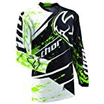 Thor Mens Phase Splatter Motocross Jersey Green Medium M