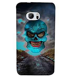 Green Horror Skull Graphics 3D Hard Polycarbonate Designer Back Case Cover for HTC One M10 :: HTC M10