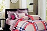 Tima Cotton 274 cm X 274 cm Double Bedsheet with 2 Pillow Covers- King Size