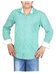 BLACK & WHITE Men's Slim Fit Shirt - B00WMR9K3M