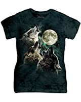 The Mountain Cotton Three Wolf Moon Design Novelty Womens T-Shirt