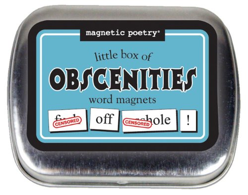 Magnetic Poetry - Little Box of Obsceneties - Words for Refrigerator - Write Poems and Letters on the Fridge
