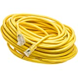 Yellow Jacket 2885 12/3 100-Feet 15-Amp Heavy-Duty SJTW Contractor Extension Cord with Lighted Ends
