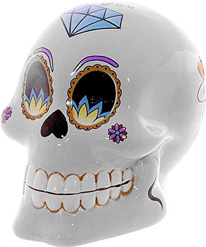 Alla moda salvadanaio a forma di/salvadanaio a forma~~Skull/teschio/giorno morti~~colore: bianco, 10 cm