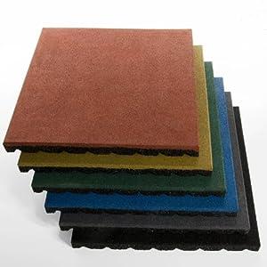 Fallschutzmatte Protect PRO - extra dick, mit Komfortschutz (40mm) - 50x50cm - grün
