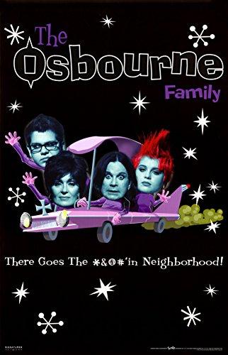22 x 35) The Osbourne Family (TV Poster, motivo facce)