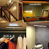Lofter Portable 20-LED Wireless Motion Sensing Closet Under Cabinet LED Night Light/Stairs Light/Step Light/Night Light/Light Lamp Bar up to 15 feet(Battery Operated)