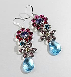 Autograph Floral Garden Drop Earrings - Marks & Spencer