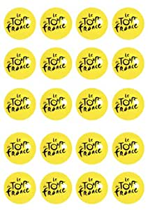 20 Pre-cut Tour de France edible cup cake topper decorations by Topped Off (FREE UK POSTAGE)