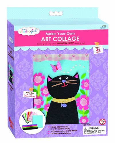 My Studio Girl Paint and Create Felt Collage Kit, Cat - 1