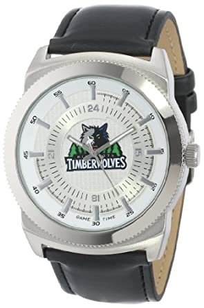 Game Time Mens NBA-VIN-MIN Vintage NBA Series Minnesota Timberwolves 3-Hand Analog... by Game Time