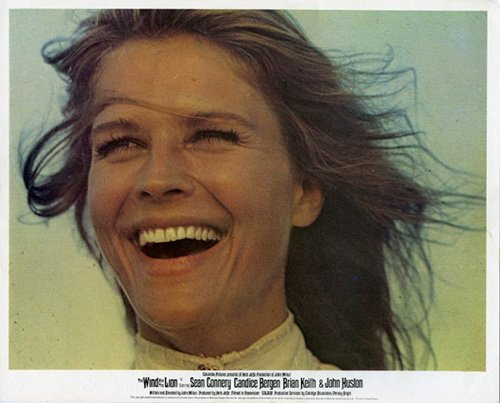 THE WIND AND THE LION ORIGINAL LOBBY CARD BRITISH CANDICE BERGEN PORTRAIT (British Bergen compare prices)