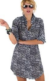 Black Abstract Dot print shirtdress/tunic