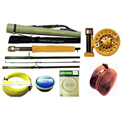 APPALACHIAN BUNDLE 4 pc Fly Rod 3-4 wt., Gold Reel, Line, Leader, Backing Line, Rod... by APPALACHIAN