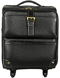 Hidekin - Set In style with The Ophiuchi II travel Briefcase Black Color Leather Luggage Bag. - B0733JYXB9