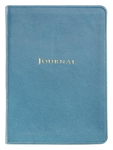 Graphic Image Medium Travel Journal, Goatskin Leather, Turquoise (MTJMRBLGTITUR)