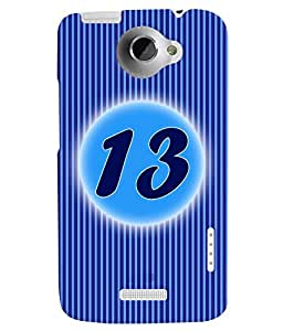 Fuson 3D Printed Numerology Designer back case cover for HTC One X - D4231