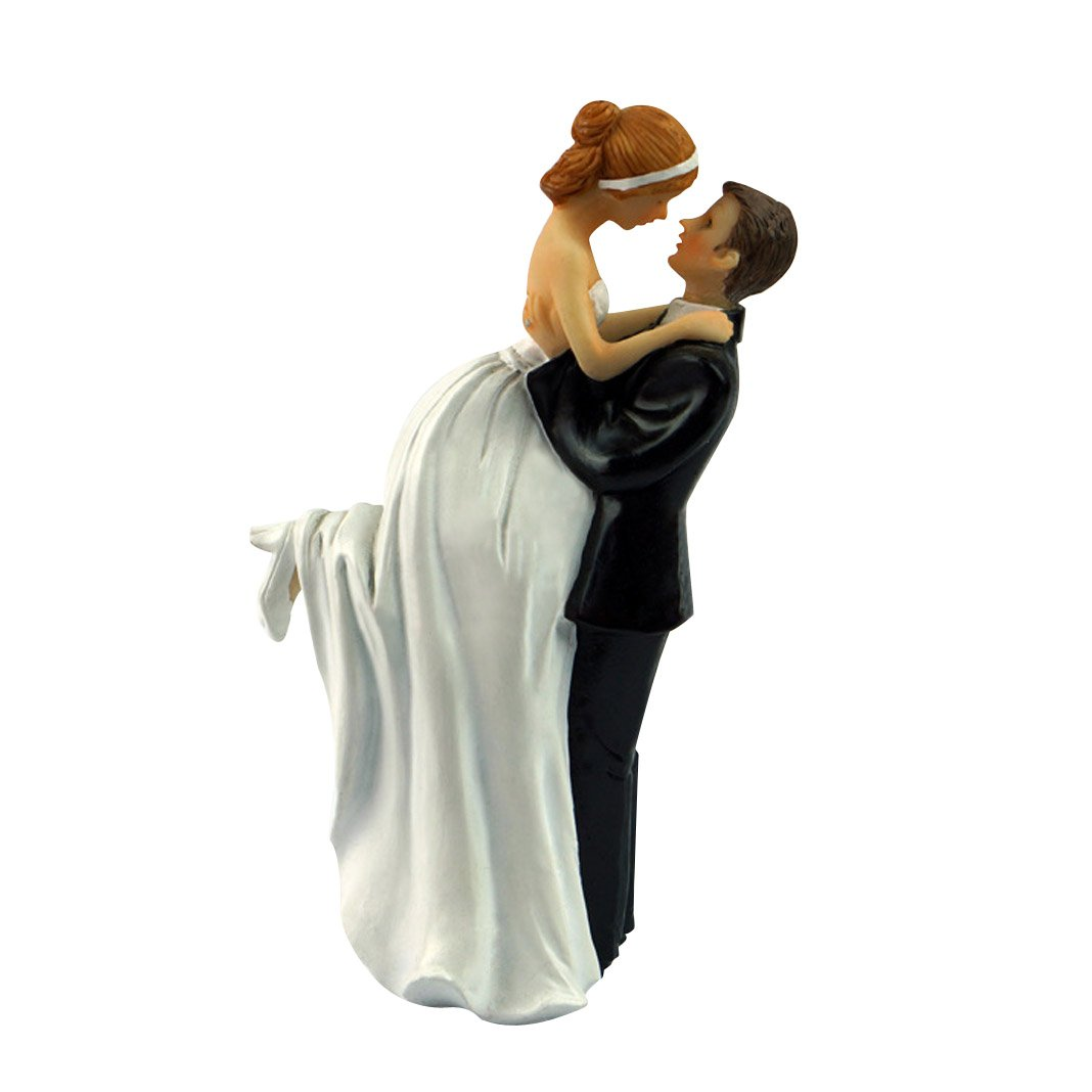 Yepmax Wedding Cake Topper Figurine Couple, 3 X 3 X 6-Inch 1