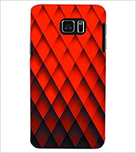 PRINTSWAG RED PATTERN Designer Back Cover Case for SAMSUNG GALAXY NOTE 5 EDGE