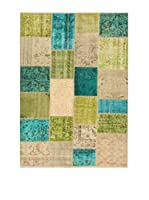 Design Community By Loomier Alfombra Anatolian Patchwork Fresh Verde/Azul/Beige 200 x 300 cm