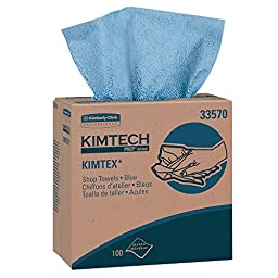 Kimtech Industrial Cleaning Wipes (33570), Disposable, Low Lint, 5 Pop-Up Boxes / Case, 100 Sheets / Box