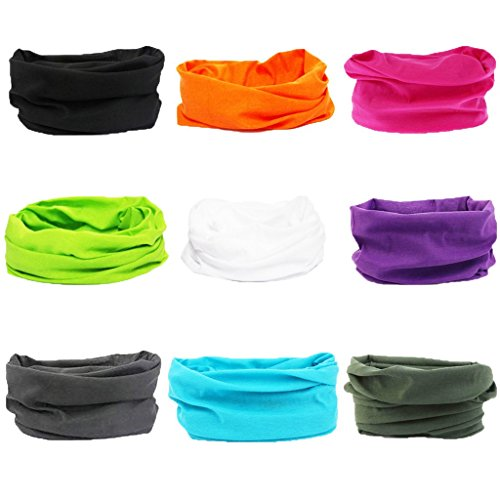 16-in-1 4/9 Pcs Multifunctional Style Yoga Sports Fashion Travel Colors Headband Seamless Neck Uv Solid Moisture Wicking Bandana Turban Scarf (style 20)