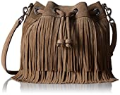 Rebecca Minkoff Fringe Mini Fiona Bucket Cross Body Bag
