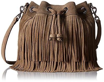 Rebecca Minkoff Fringe Mini Fiona Bucket Cross Body Bag
