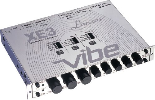 Lanzar Vibexe3 Vibe Half Din In-Dash 3 Way Electronic Crossover/5 Band Equalizer