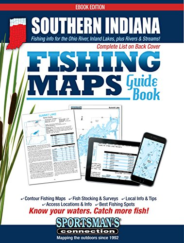 Southern Indiana Fishing Map Guide (Indiana Fishing compare prices)