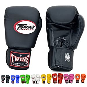 Buy Twins Special Muay Thai Boxing Gloves Velcro BGVL-3 Color Black Blue Red White Pink Green Orange... by Twins Special