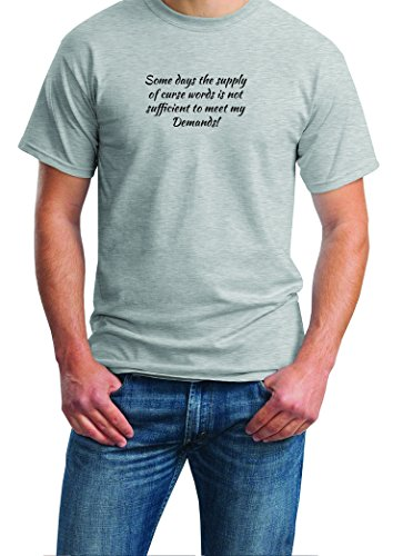 Some days the supply of curse words is not sufficient.... Mens T-shirt (X-Large, Ash Gray)