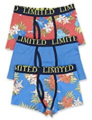3 Pack Limited Cotton Rich Hibiscus Print Trunks