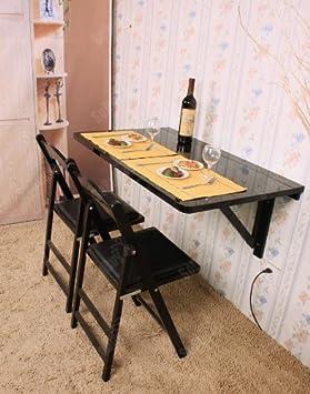 Sobuy Fwt06 Sch Table Murale Rabattable En Bois Grande Modele En