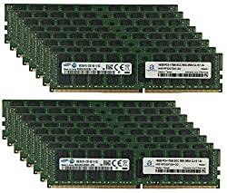 Samsung Original 256GB (16x16GB) Server Memory Upgrade for HP Proliant BL460c G9 DDR4 2133MHz PC4-17000 ECC Registered Chip 2Rx4 CL15 1.2V SDRAM Adamanta