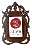 Store Indya Antique Brown Designer Wooden Photo Frame