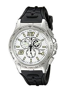 Swiss Legend Men's 10040-02S Sprint Racer Chronograph White Dial Watch
