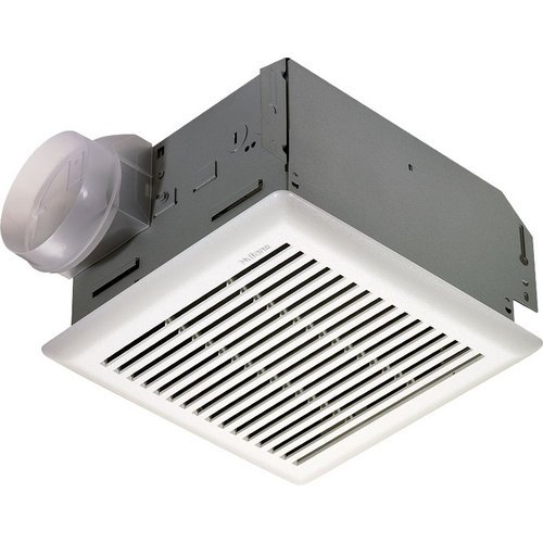 Nutone Model 672R Fan, 110 Cfm 4.0 Sones, White Grille, With 4-Inch Duct