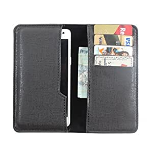 DooDa PU Leather Pouch Case Cover With Card / ID Slots For karbonn Titanium Hexa